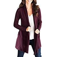 Holywin Cardigan Women Tops Solid Long Sleeve knitting Loose Coat T-Shirt Outwear