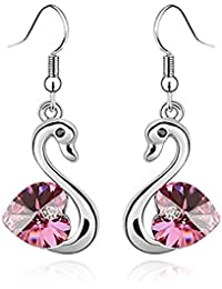Young & Forever Mothers Day Gifts Timeless Treasure Dreaming Swan Pink Star Crystal From Swarovski Dangle & Drop...