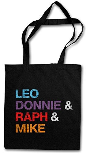 Donnie & Raph & Mike Hipster Bag Beutel Stofftasche Einkaufstasche ()