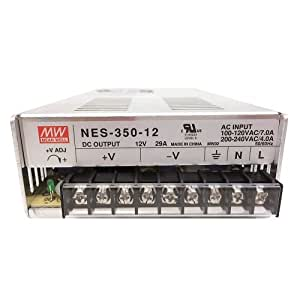 Meanwell 12 Volt 350 Watt Ul Switching Power Supply 120 Volt Input Constant Voltage By Ledwholesalers, 3251-12v