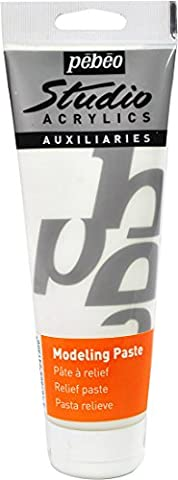Pebeo 250 ml Studio Acrylics Auxiliaries Modeling Paste,