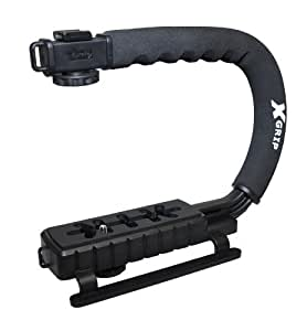 Opteka X-GRIP Professional Camera / Camcorder Action Stabilizing Handle- Black Consumer Portable Electronics/Gadgets