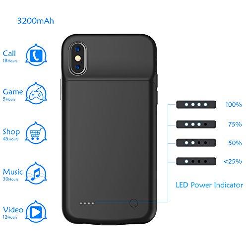 online retailer 5e6de 51b95 iPhone X Battery Case / iPhone 10 Battery Case [Support Lightning ...