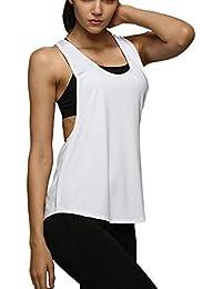 Camiseta Tirantes sin Mangas de Deporte para Mujer Verano, Tank Top Clásico Chaleco para Fitness Gimnasio Yoga Colores Opcionales Camiseta de Pijama Dormir (M, Rosa)
