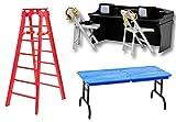 Black Commentators Table & Ladder Set Deal 2 - Wrestling Figure Accessories (For WWE/TNA Action Figures)