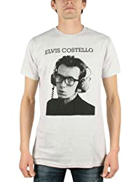 Elvis Costello - Stereophonic Mens T-Shirt In Silver