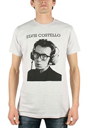 Elvis Costello - Stereophonic Mens T-Shirt In Silver, Size: X-Large, Color: Silver