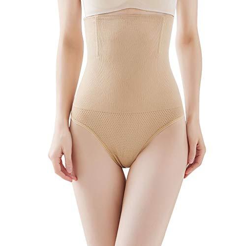 Amoyl Body Shaper Damen Kontrollieren Schlank  Bauch Korsett  Hohe Taille  Shapewear  Unterwäsche Unterhose (Khaki, M/L)