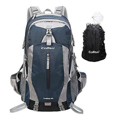 42366dd3978b36 Colisal Zaino Trekking 40L Zaino Montagna Uomo Donna Unisex Zaino da  Escursionismo con Copri Antipioggia Impermeabile