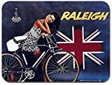 Raleigh Fahrradleuchte AD Mauspad klassisch Vintage Bicycle Mauspad Fahrrad Poster Geschenk