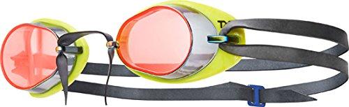 TYR Erwachsene Tracer Socket Rocket Miroir 2.0 Schwimmbrillen, rot/leuchtgelb/Schwarz, One Size