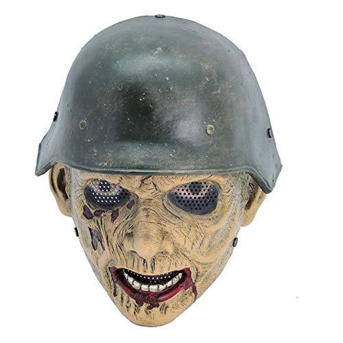 WETERS Halloween FRP Maske Zombie Soldat Resident Evil Zombie Vollgesichtsmaske
