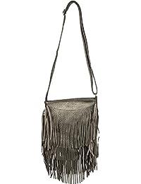 styleBREAKER borsa a tracolla con frange lunghe in stile etnico alla moda 483cc38b198