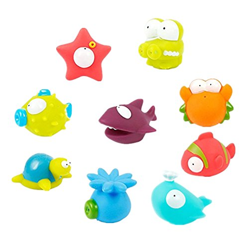 Wasserspielzeug Badspielzeug ,Chickwin Baby Badewanne Badetierchen süße Schwimmende Ozean Strand Tiere 9PCs Set (Ozean Tiere Süße)