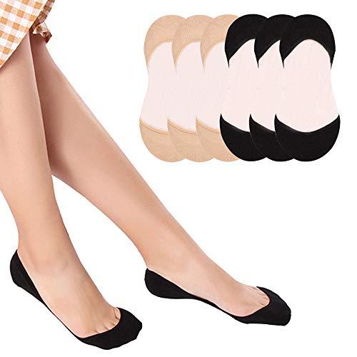 Puimentiua 6 Pares Calcetines Invisible cortos Mujer
