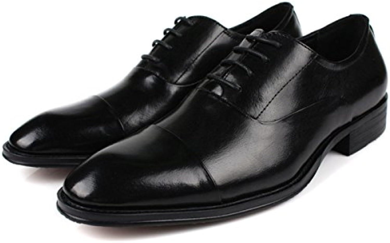 Männer Spitzen Oxford Schuhe Casual Business Smart Formale Schnürschuhe Brogues Für Männer Klassische Büro Lederschuhe