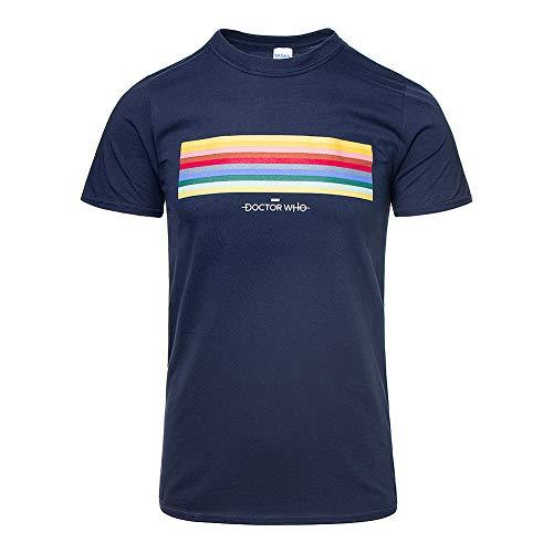 Doctor Who 13th Doctor Streifen T Shirt (Navy Blau) - ()