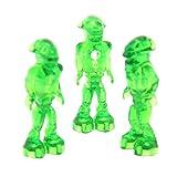 3 x Lego System Figur Mars Mission Alien transparent grün Körper Glow In Dark leuchtet im Dunkeln Set 7646 7690 7694 7697 7647 7644 mm001