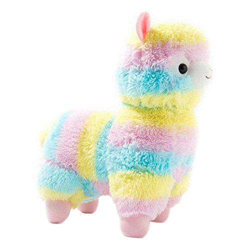 Kuschelige Rainbow Alpaca Soft Puppe weich Lama gefüllt Tier Spielzeug Geburtstag 19