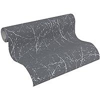 A.S. Création Vliestapete Elegance Tapete im skandinavischen Design 10,05 m x 0,53 m grau metallic Made in Germany 305072 30507-2