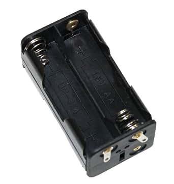 Aerzetix: Porte-piles 4xAA LR6 boîtier pour 4 piles ou accus fiche prise chassis bec