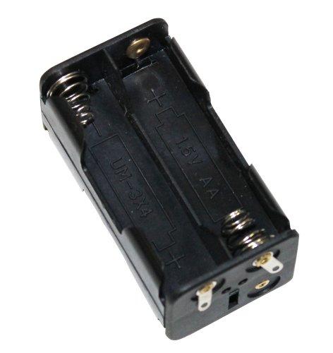 Preisvergleich Produktbild Aerzetix: Batteriehalter 4x AA LR6 für 4 Batterien oder Akkus Steckdose Rahmen