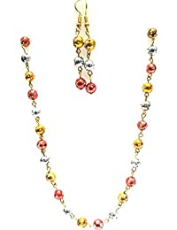 Multi-colour Colour Peral Necklace Set