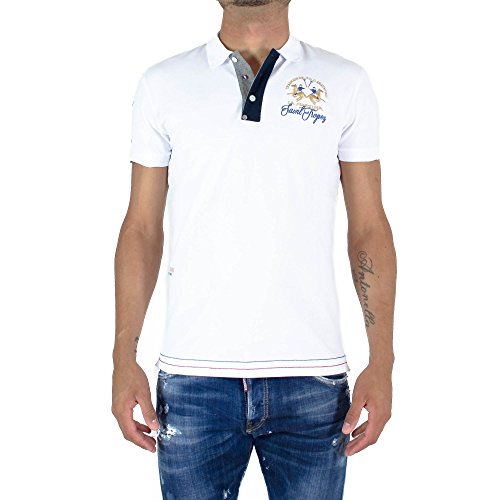 La Martina Herren Poloshirt Man Polo S/S Piquet Stretch Weiß