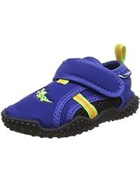 Playshoes Badeschuhe Krokodil Mit UV-Schutz, Zapatillas Impermeables Unisex Niños