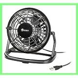 Mini Ventilateur de Bureau - connexion USB - Diamètre 9,6 cm - Alimenté par USB - Silencieux - Orientable - Compatible PC, ordinateur portable, Netbook, Apple Macbook, iMac, PS3, XBOX360, ...avec LOGO HEDEN