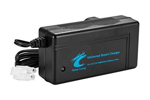 Rc 12v Akku (Universal Smart Ladegerät für 5.0V-12V NiMH/NiCd RC Akku mit 2A Ausgang und TRX Adapter Stecker)