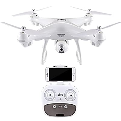 S70W GPS FPV Drone Quadcopter with 1080P HD Camera Wifi Headless Mode LED Lights 120° Wide-angle Lens from Jintime