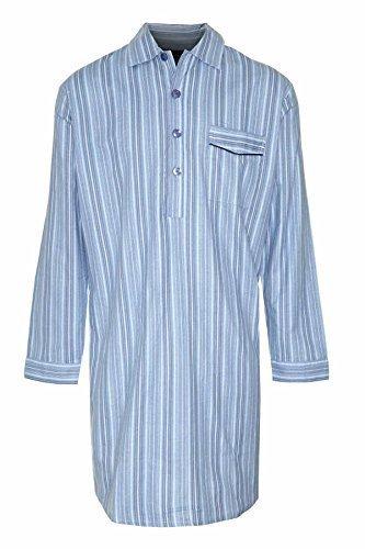 Champion - camicia da notte da uomo, a righe, 100% cotone pettinato, taglia m (giropetto 96,5-101,5 cm)