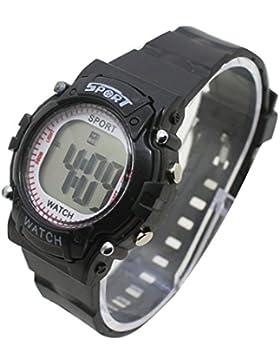 Kinder Kinder Uhren Digital Colorful Luminous Big LCD-Alarm Sport Armbanduhr Boy Girl WS @ ktw59b