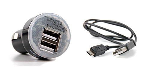 DURAGADGET Für Waitiee Walkie Talkie PMR446 Kinder-Funkhandys: Dual-USB-Ladestecker (2 Ampere) zum Aufladen Ihres Funkgerätes über Auto-Zigarettenanzünder – mit USB-Ladekabel zum Verbinden