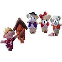 MuSheng(TM) Blonde Girl And Three Bearsinger Even Storytelling Good Toys Hand Puppet Finger Puppet Plush Early Education Toys Gift For Kids Children Play Learn Story Toy