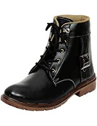 Red Rose Shoes For Mens Synthetic Leather Boots & Casual Shoes And Sneakers Black Shoes