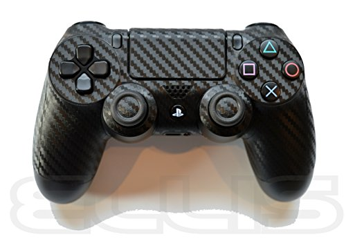 2x-schwarze-3d-texturierte-kohlefaser-auenhaut-hlle-abdeckung-aufkleber-fr-ps4playstation-4-controll