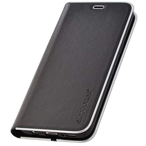 elephones® Handyhülle für Samsung Galaxy S8 Hülle - Kompatibel mit Galaxy S8 Handy-Tasche Schutzhülle Flip Case Schwarz Schutzhülle Flip Case