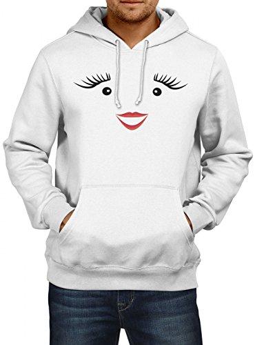 Shirt Happenz Kostüm Milch Premium Hoody | Verkleidung | Karneval Hoodies | Fasching | Herren | Kapuzenpullover, Farbe:Weiß;Größe:S