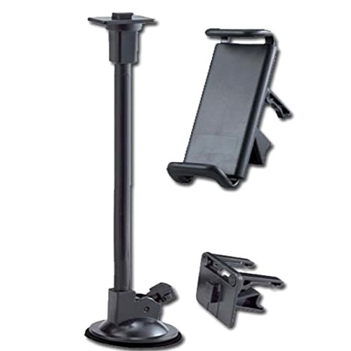 Moozy ExLine Universeller 360 drehbar Auto Windschutzscheiben Halterung / Halter für Handy (10.5 - 14 cm) mit klappbaren Bein Stab (Beine Hoch Bleiben)