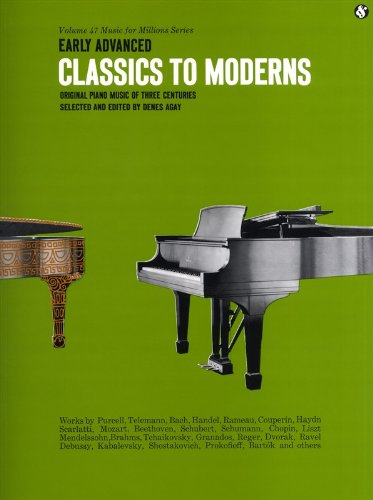 MUSIC SALES MUSIC FOR MILLIONS 47 EARLY ADVANCED CLASSICS TO MODERNS - PIANO SOLO Noten Pop, Rock, .... Klavier