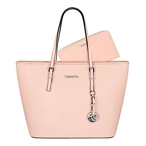 Tom & Eva Damen Handtasche und Geldbörse Set 6228F TE-Jet Set Travel Bag Tasche Soft Pink (hellrosa)