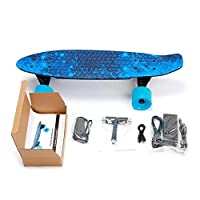 KCLQTK Electric skateboard, electric skateboard, remote longboard skateboard, specialized mini cruiser with wireless remote control for beginners and city commuters