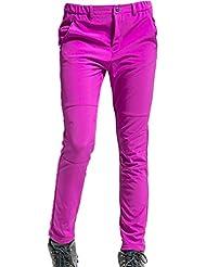 Demarkt Impermeable al Viento de Pantalónes de trekking para Mujer Multicolor (Rosa, S)