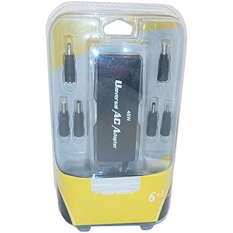 Adattatore per Caricabatterie Universale del Computer Portatile (48W) per Compatibile Dell, Acer, HP, Asus, Sony, Lenovo, MSI, Samsung / 6 + 1 Suggerimenti / Connettori / iCHOOSE