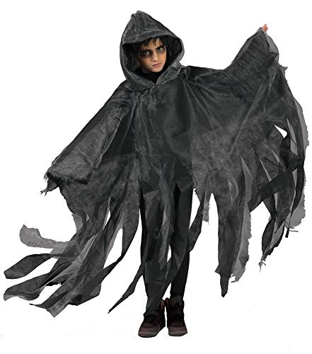 Halloween Umhang mit Kapuze für Kinder - Grau