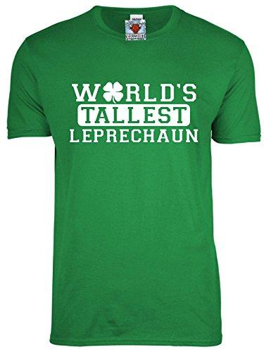 Bullshirt 's Herren 's World 's Tallest Leprechaun T-Shirt., Grün - Irish Green, L (Fancy Dress Dublin)