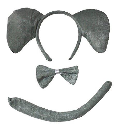 Petitebelle Stirnband Bowtie Schwanz Kostüm für Erwachsene Einheitsgröße Elefant