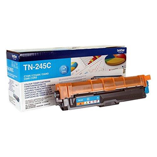 Brother Original Jumbo-Tonerkassette TN-245C cyan (für Brother HL-3140CW, HL-3150CDW, HL-3170CDW, DCP-9020CDW, MFC-9140CDN, MFC-9330CDW, MFC-9340CDW) (Gelb Kompatibel-tintenpatrone 2200)